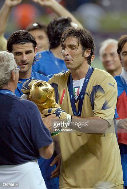 Sport Football FIFA World Cup Final Berlin 9th July 2006 Italy 1 v France 1 Italy won 53 on Penalties Italy goalkeeper Gianluigi Buffon with the...