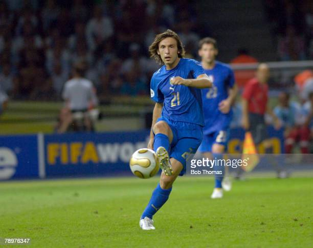 Sport Football FIFA World Cup Final Berlin 9th July 2006 Italy 1 v France 1 Italy won 53 on Penalties Andrea Pirlo Italy