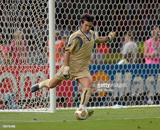 Sport Football FIFA World Cup Final Berlin 9th July 2006 Italy 1 v France 1 Italy won 53 on Penalties Gianluigi Buffon Italy goalkeeper