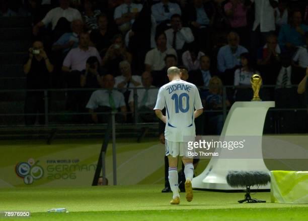 Sport Football FIFA World Cup Final Berlin 9th July 2006 Italy 1 v France 1 Italy won 53 on Penalties France captain Zinedine Zidane walks past the...