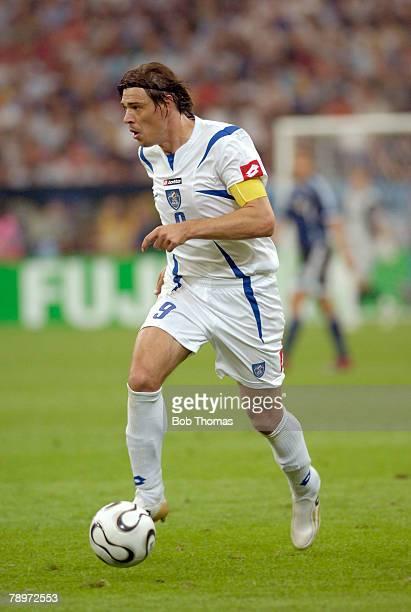 Sport Football FIFA World Cup Gelsenkirchen 16th June 2006 Argentina 6 v Serbia and Montenegro 0 Savo Milosevic Serbia and Montenegro captain