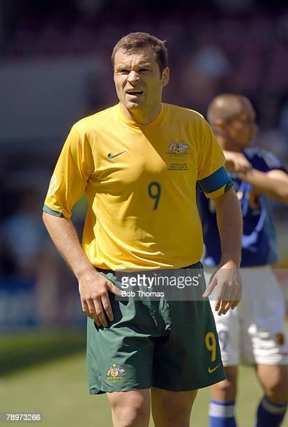 Sport, Football, FIFA World Cup, Kaiserslautern, 12th June 2006, Australia 3 v Japan 1, Mark Viduka, Australia captain