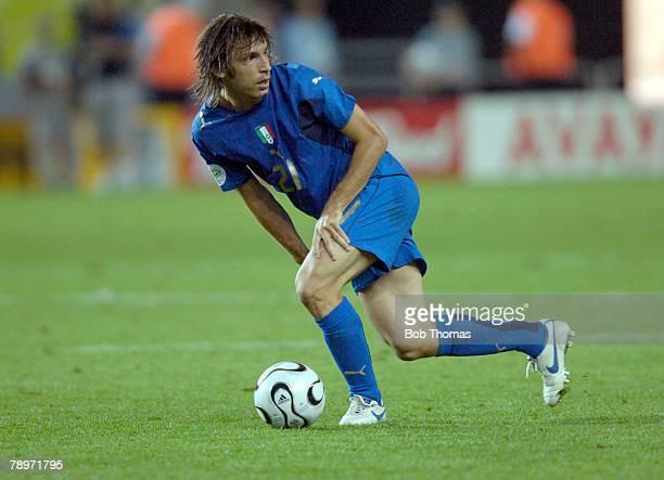 Sport Football FIFA World Cup Kaiserslautern 17th June 2006 Italy 1 v USA 1 Andrea Pirlo Italy