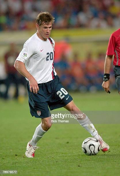 Sport, Football, FIFA World Cup, Kaiserslautern, 17th June 2006, Italy 1 v USA 1, Brian McBride, USA