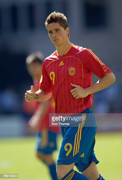 Sport Football FIFA World Cup Kaiserslautern 23rd June 2006 Saudi Arabia 0 v Spain 1 Fernando Torres Spain