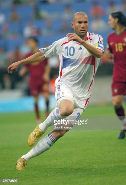 Sport, Football, FIFA World Cup, Munich, 5th July 2006, Semi Final, Portugal 0 v France 1, Zinedine Zidane, France captain, scorer of the winning...