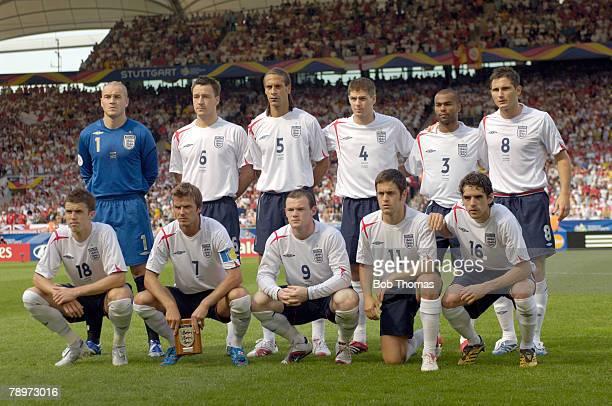 Sport Football FIFA World Cup Stuttgart 25th June 2006 England 1 v Ecuador 0 England team line up Back row leftright Paul Robinson John Terry Rio...