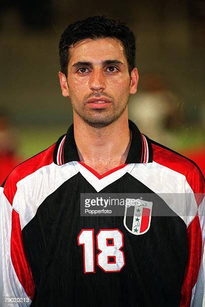 Sport Football Friendly International Abu Dhabi 2nd August 2001 United Arab Emirates 2 v Iraq 2 Iraq's Kazem Hussein