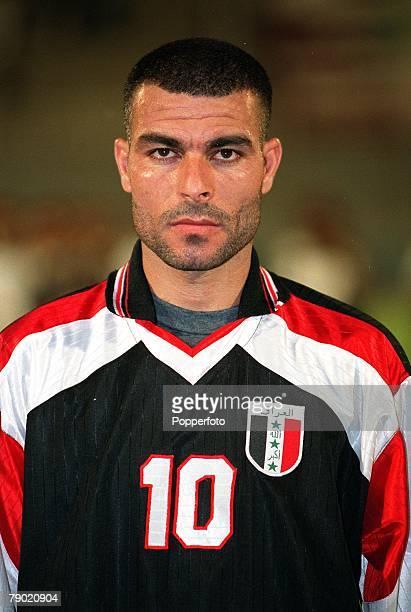 Sport Football Friendly International Abu Dhabi 2nd August 2001 United Arab Emirates 2 v Iraq 2 Iraq's Razaq Farhan