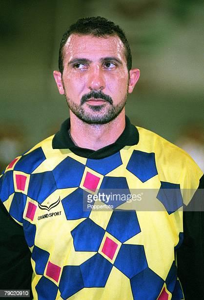 Sport Football Friendly International Abu Dhabi 2nd August 2001 United Arab Emirates 2 v Iraq 2 Iraq's goalkeeper Amer Hussain