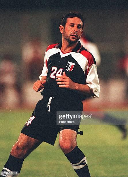 Sport Football Friendly International Abu Dhabi 2nd August 2001 United Arab Emirates 2 v Iraq 2 Iraq's Khalid Sabbar
