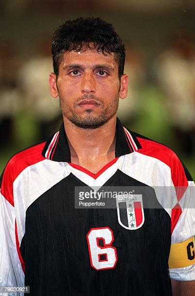 Sport Football Friendly International Abu Dhabi 2nd August 2001 United Arab Emirates 2 v Iraq 2 Iraq's captain Habib Ekal