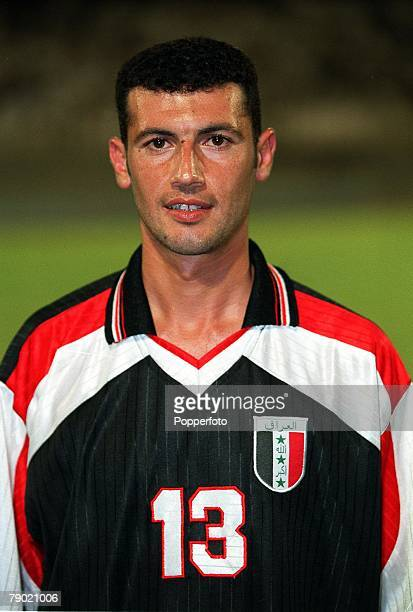 Sport Football Friendly International Abu Dhabi 2nd August 2001 United Arab Emirates 2 v Iraq 2 Iraq's Hamam Saleh