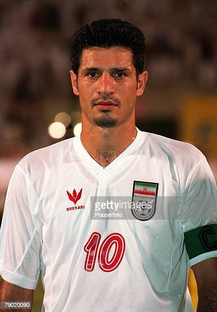Sport Football Friendly International Doha Qatar 1st August 2001 Qatar 2 v Iran 1 Iran's Ali Daei