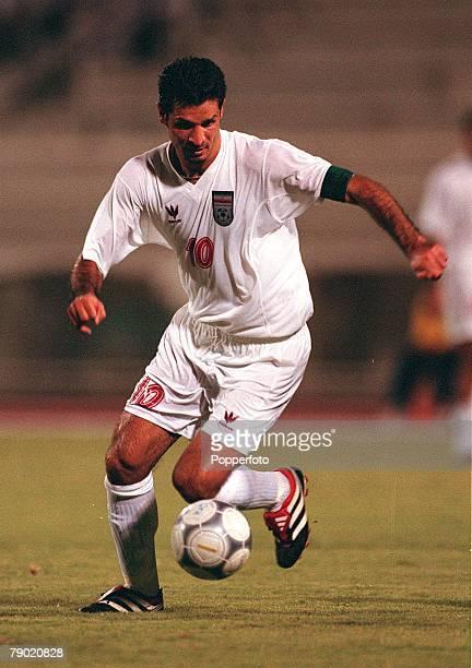 Sport Football Friendly International Doha Qatar 1st August 2001 Qatar 2 v Iran 1 Iran's Ali Daei