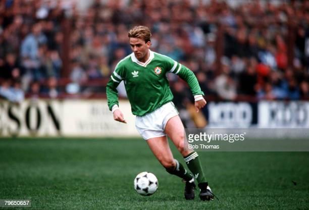 Sport Football Friendly International Dublin 23rd March 1988 Republic of Ireland 2 v Romania 0 Republic of Ireland's John Byrne