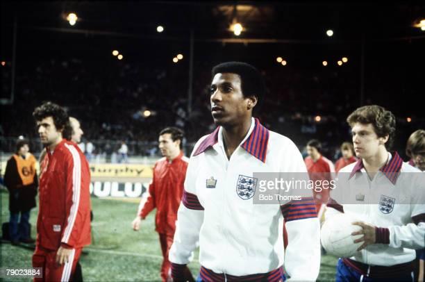 Sport, Football, Friendly International, Wembley, London, 29th November 1978, England 1 v Czechoslovakia 0, Nottingham Forest's Viv Anderson becomes...