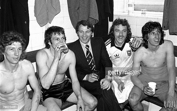 Sport Football Highbury London England 8th April 1978 FA Cup SemiFinal Ipswich Town 3 v West Bromwich Albion 1 Ipswich Manager Bobby Robson...