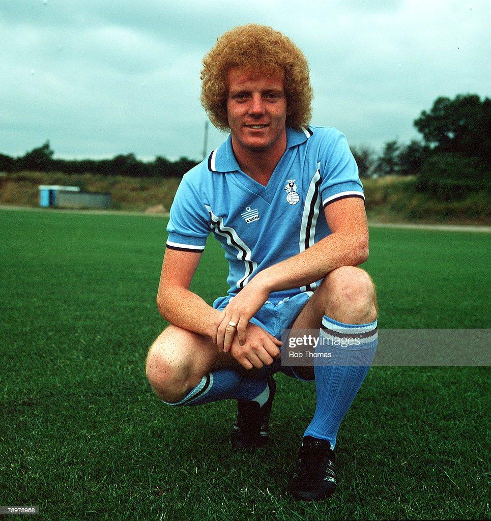 Sport, Football. Ian Wallace of Coventry City. Circa, 1978. : News Photo