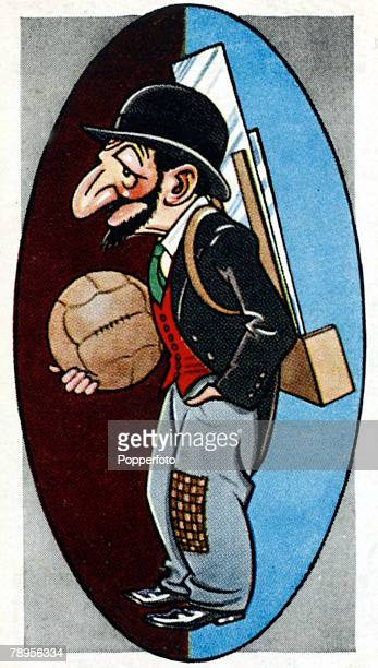 """Sport, Football Illustration, Caricature/Nicknames, pic: circa 1930's, Crystal Palace, nicknamed the """"Glaziers"""", perhaps so called because of the..."""