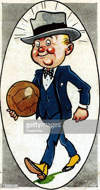 Sport Football Illustration Caricature/Nicknames pic circa 1930's Stockport County nicknamed the 'Hatters' or 'County' the town at one time had a...