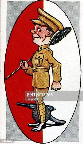 Sport Football Illustration Caricature/Nicknames pic circa 1930's Arsenal nicknamed the Gunners so called because as Royal Arsenal the club's...