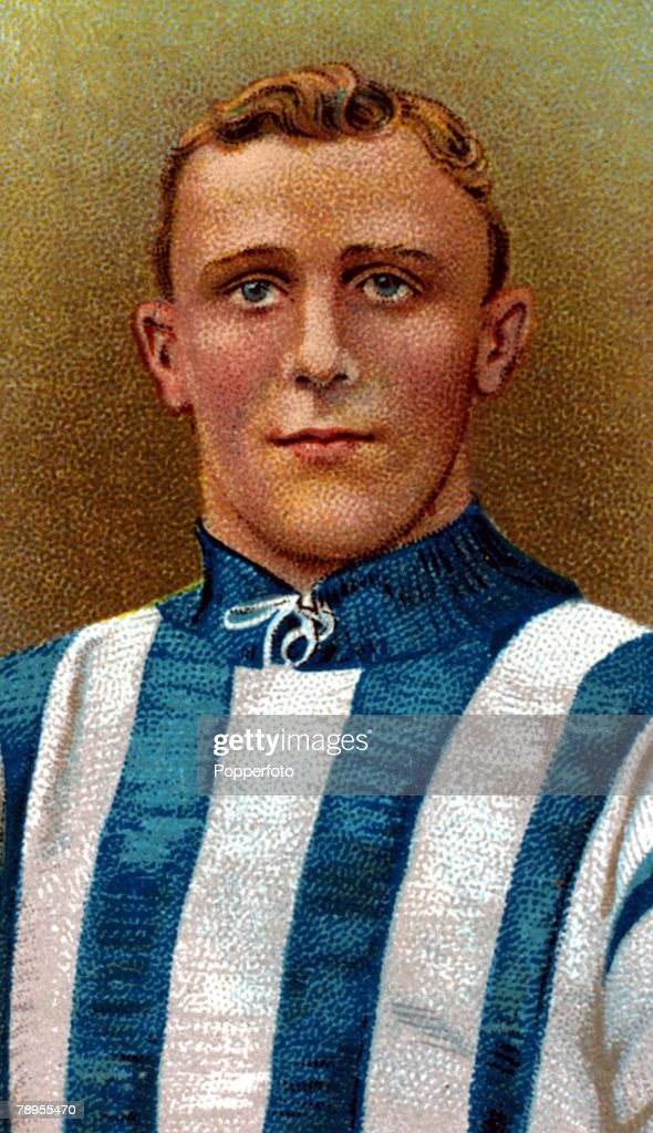 Sport. Football Illustration. pic: circa 1908. Jesse Pennington, West Bromwich Albion. He played for England 1907-1920 and won 25 international caps. : News Photo