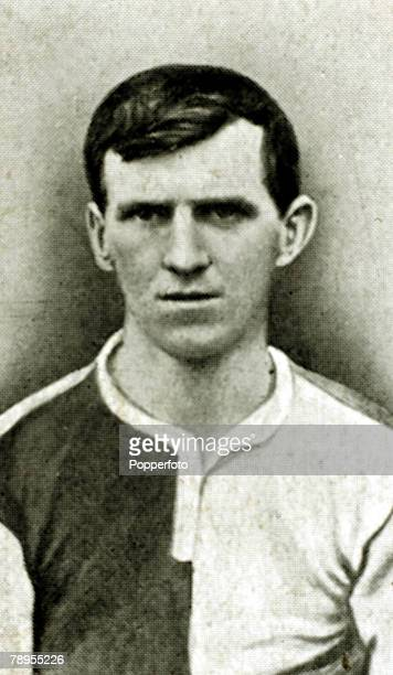 circa 1912 WBradshaw Blackburn Rovers who won 4 England international caps from 19101913
