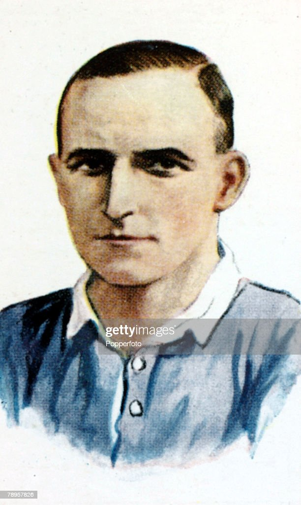 Sport. Football Illustration. pic: circa 1930's. Alan Morton, Rangers, who won 31 Scotland international caps from 1920-1932. He was called the 'wee blue devil' after his wonderful display for Scotland against England at Wembley in 1928. : News Photo