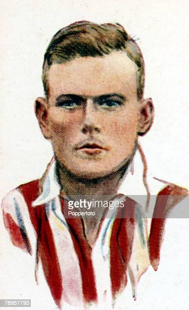 Sport, Football Illustration, pic: circa 1930's, J,Dunne, Sheffield United, who won 15 Republic of Ireland international caps from 1930-1939