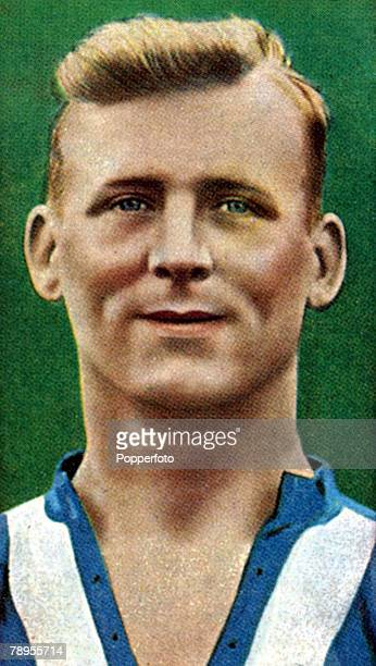 Sport, Football Illustrations, pic: 1930's, A, Young, Huddersfield Town centre half, who won 9 England international caps from 1933-1939
