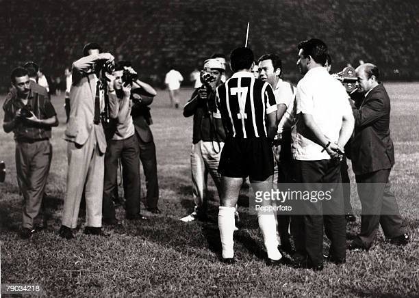 Sport Football in South America Brazil star Garrincha the centre of attention from the media before a club game in Brazil He played 60 times for...
