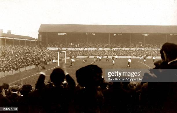 Sport, Football International, British Championship, Goodison Park, Liverpool, England, 1st April 1911, England 1 v Scotland 1, J,Stewart has scored...