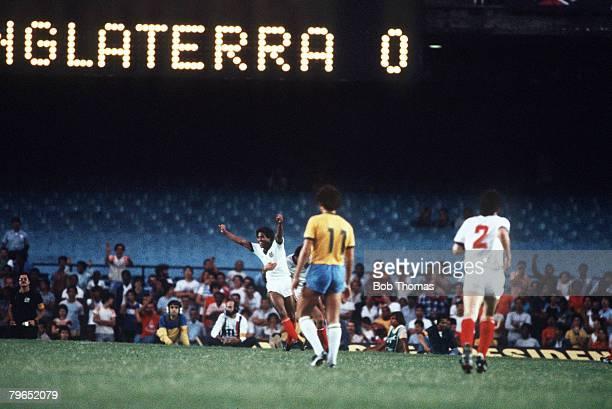 Sport Football International Friendly Maracana Stadium Rio de Janeiro 10th June 1984 England Tour of South America Brazil 0 v England 2 England's...