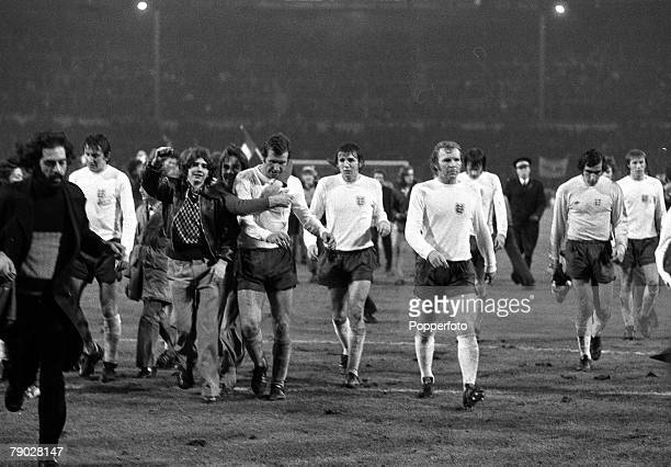 Sport, Football, International Friendly, Wembley, London, 14th November 1973, England 0 v Italy 1, Bobby Moore's last match for England, England...