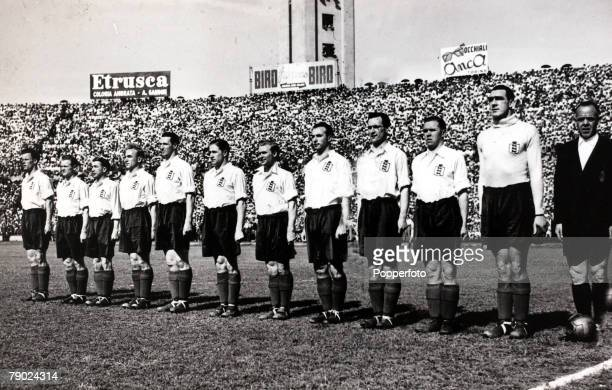 Sport Football International Match Turin 16th May 1948 Italy 0 v England 4 The England team line up before the match the team was Swift Scott Don...