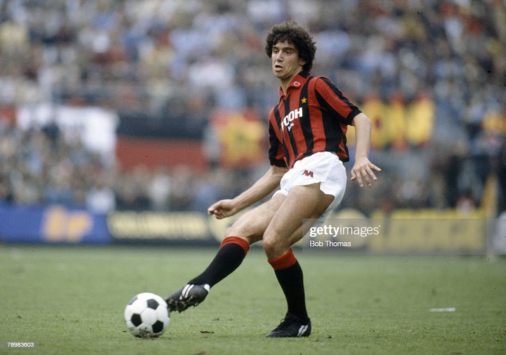 Sport. Football. Italian League, Serie A. 4th October 1981. AC Milan 0 v Juventus 1. Fulvio Collovati, AC Milan. : News Photo