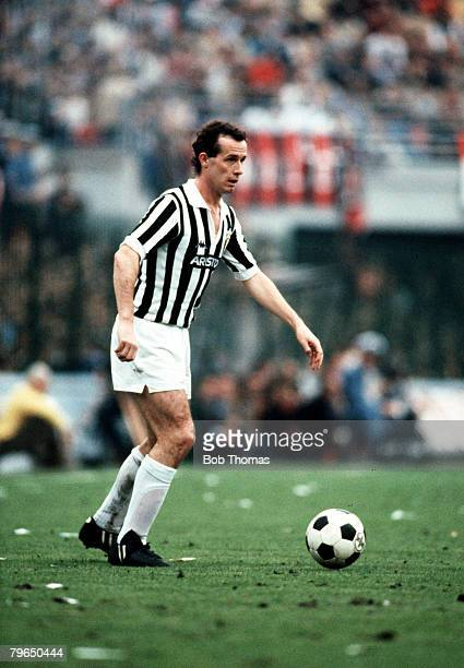 Sport Football Italian League Serie A 4th October 1981 AC Milan 0 v Juventus 1 Liam Brady of Juventus