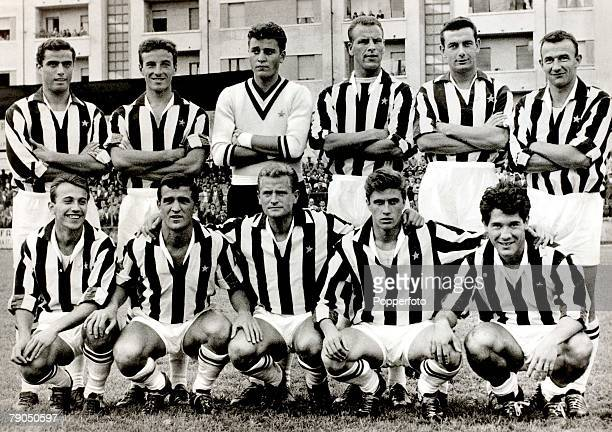 Sport Football Italy A group picture of the Juventus team with the Welsh International John Charles