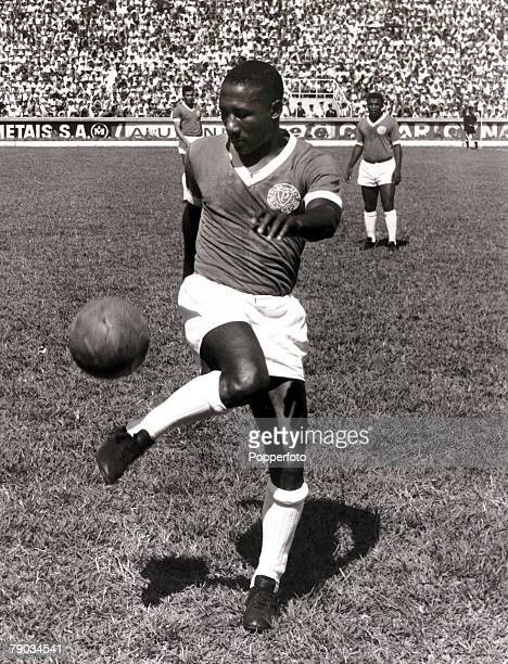 Sport Football January 1966 Brazil star Djalma Santos pictured in his Palmeiras club colours Djalma Santos was a much capped international for Brazil...