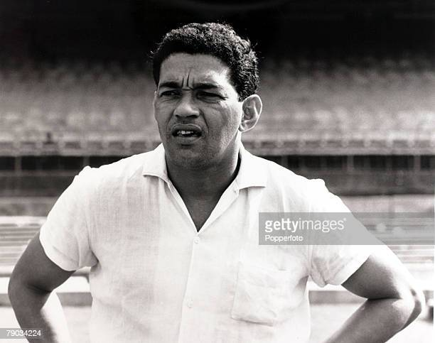 Sport Football July 1967 Brazil star Garrincha pictured in the Maracana Stadium Rio de Janeiro He played 60 times for Brazil and with he and Pele in...