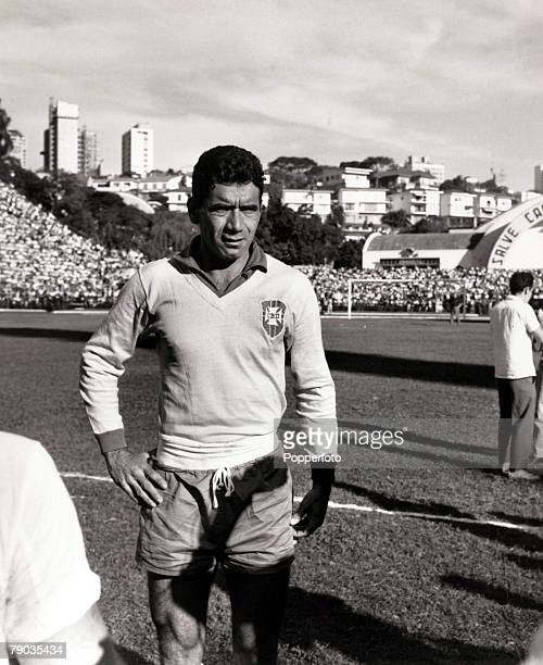 Sport Football June 1961 Brazilian international Nilton Santos before a game He had a long international career for Brazil playing in the 1954 1958...