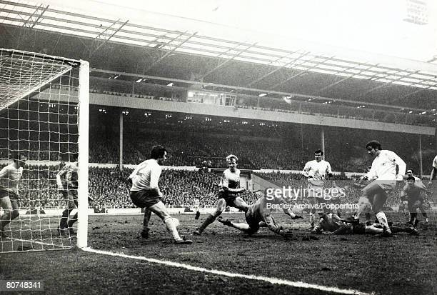 Sport Football League Cup Final 1969 Wembley London Arsenal 1 v Swindon 3 Don Rogers scores Swindon's second goal