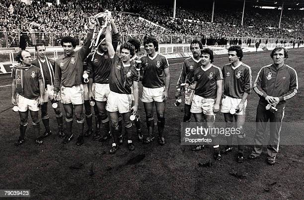 Sport Football League Cup Final Wembley London England 17th March 1979 Nottingham Forest 3 v Southampton 2 Nottingham Forest players celebrate with...