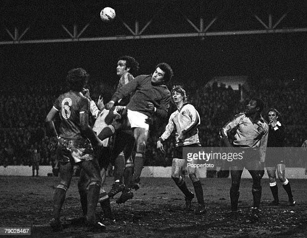 Sport Football League Cup SemiFinal First Leg City Ground England 18th January 1979 Nottingham Forest 3 v Watford 1 Nottingham Forest goalkeeper...