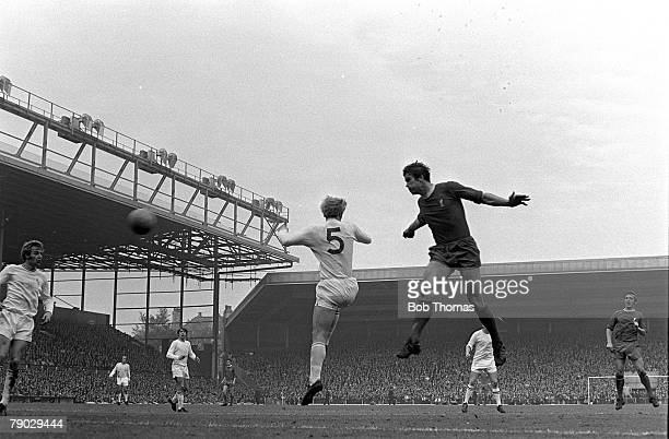 Sport Football League Division One Anfield England Liverpool v Burnley Liverpool captain Ron Yeats scores with a powerful header