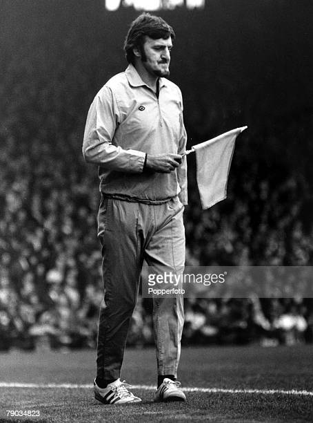 Sport Football League Division One Highbury London England 16th December 1972 Arsenal v Liverpool Jimmy Hill stands in for an injured linesman during...