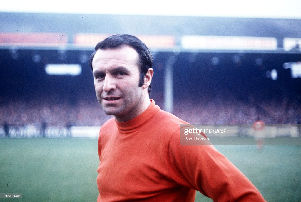 Sport. Football. League Division One. Maine Road, England. 23rd August 1970. Manchester City v Blackpool. Blackpool's Jimmy Armfield who celebrated his 300th appearance for his team. : News Photo