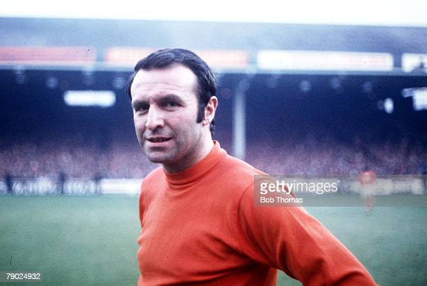 Sport Football League Division One Maine Road England 23rd August 1970 Manchester City v Blackpool Blackpool's Jimmy Armfield who celebrated his...