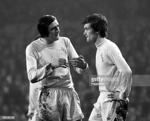 Sport Football League Division One Selhurst Park London England 18th November 1972 Crystal Palace 2 v Leeds United 2 Leeds United's Norman Hunter...